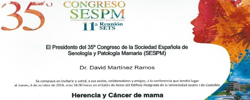 castellon 35 Congreso senologia cancer mama david martinez ramos